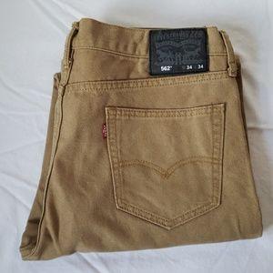 Levi mens tan jeans
